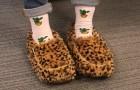 Sie haben endlich Pantoffeln erfunden, die sich in der Mikrowelle erwärmen, für diejenigen, die immer kalte Füße haben.