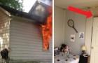 Deshalb sagen die Feuerwehrleute, dass man immer bei geschlossener Zimmertür schlafen sollte.