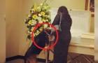Despues de la muerte del patron el perro se niega a comer: durante el funeral sucede una cosa de