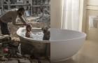 Ein Junge kreiert kraftvolle Fotomontagen, die alle Widersprüche der modernen Welt zeigen