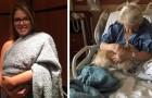 La petite-fille déguise le chien en enfant pour l'emmener voir sa grand-mère à l'hôpital