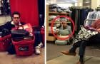 20 jätte roliga bilder på män som tvingas vänta på sina fruar medan de shoppar