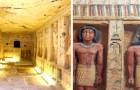 Scoperta una tomba egizia di 4.400 anni, perfettamente conservata: all'interno 55 statue colorate