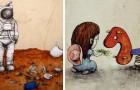 Deze 17 voorbeelden van street art vatten de ellende in de maatschappij van nu goed samen
