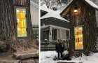 Una donna trasforma una quercia secolare malata in una piccola biblioteca dall'aspetto magico