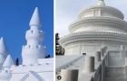Il più spettacolare Festival di sculture di ghiaccio ha aperto i battenti: ecco le colossali strutture esposte