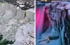 La vague de gel a transformé les chutes du Niagara en un village de glace : les photos sont à couper le souffle