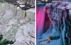 Die Kältewelle hat die Niagarafälle in ein gefrorenes Dorf verwandelt: Die Fotos sind atemberaubend