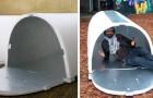 Un giovane ingegnere ha inventato dei ripari low cost per i senzatetto, riciclabili ed isolanti