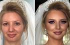 O poder da maquiagem: 27 noivas que ficaram irreconhecíveis depois que foram maquiadas