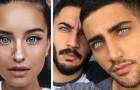 19 pessoas as quais a natureza doou olhares incrivelmente magnéticos