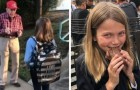 She discovers that her daughter speaks every day with a man in front of her school --- but his intentions deserve applause
