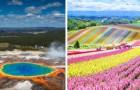 11 plaatsen op Aarde waar Moeder Natuur al haar kleuren wilde laten zien
