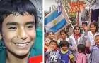 Questo ragazzo ha solo 12 anni ed ha già fondato una scuola aperta a tutti i bambini poveri del suo villaggio