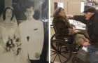 Na 65 jaar huwelijk knielt hij opnieuw voor zijn vrouw: een gebaar van liefde van een zeldzame schoonheid