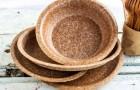 Toronto: Bei einer öffentlichen Veranstaltung wird Geschirr und Besteck aus Weizenkleie vorgestellt