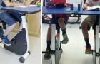 Anche in Italia è stata introdotta la bici-banco, un modo per permettere ai bambini iperattivi di seguire la scuola