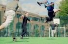 Atencion cuando los mejores jugadores juegan en una cancha de futbol inflable
