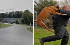 Un uomo si avvicina a una bambina di 10 anni, ma non sa che il suo cane le sta guardando le spalle