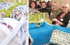 Diese Damen spinnen jede Woche Teppiche und Decken für Obdachlose