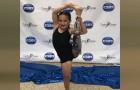 Ett och ett halvt år efter att hon förlorat sitt ben lämnar hon läkarna mållösa genom att vinna en danstävling