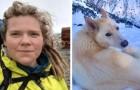 Una ragazza non udente rimane intrappolata sotto la montagna, ma un husky coraggioso le salva la vita