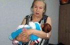 She gives birth at the age of 60, but her husband decides to abandon her when the baby starts keeping him up at night!