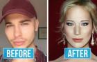Met deze make-up goochelaar kun je praktisch IEDEREEN worden: zijn transformaties zijn uitzonderlijk