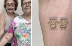 Deze twee vrouwen vierden hun 30-jarige vriendschap door twee lachende bierpullen te tatoeëren