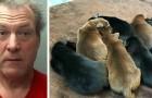 Um homem amarra 8 filhotes e os joga no lixo: a punição que recebe é exemplar