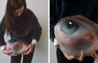 Questa ragazza raccoglie rocce, le dipinge con occhi umani e poi le rimette al loro posto per essere trovate o perdute per sempre