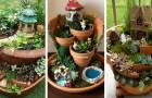 Molte persone trasformano i vasi rotti in piccoli paesaggi fatati... con risultati che superano ogni aspettativa