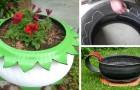 Trasformare un vecchio pneumatico in una stupenda fioriera colorata: un ragazzo ci spiega come fare, passo dopo passo