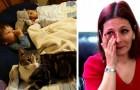A menina estava sufocando no sono: o gato chama a atenção da mãe e salva a sua vida