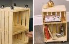 5 facili step per realizzare un originale mobile da salotto partendo da una semplice cassetta di legno
