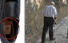 Newly invented shoes with GPS to track elderly family members with Alzheimer's and prevent them from getting lost!