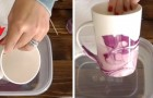 Volete decorare le vostre tazze? Ecco come fare usando acqua e smalto per le unghie