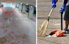 10 ragazzi vandalizzano un parcheggio: il sindaco li manda a pulire le strade durante l'estate