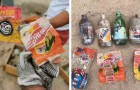 Freiwillige reinigen einen Strand voller Müll und finden Verpackungen von vor 40 Jahren