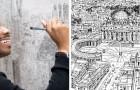 Dieser autistische Junge ist in der Lage, ganze Städte auswendig zu zeichnen, und seine Werke haben einige unglaubliche Eigenschaften