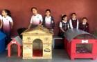 De här barnen skapar hundkojor med hjälp av återvunna material och deras initiativ har blivit mycket framgångsrikt