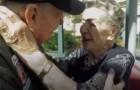 Een verliefd stel, gescheiden door de Tweede Wereldoorlog, vond elkaar weer na 70 jaar