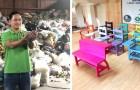 Dieser Ingenieur rettet Bäume, indem er Stühle und Schulbänke aus recyceltem Kunststoff herstellt