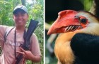 He kills a beautiful bird in danger of extinction and exhibits it on social media like a trophy --- the reaction is not long in coming!