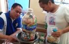 Die Philippinen starten eine Initiative zur Förderung des Recyclings: 1 kg Kunststoff wird für 1 kg Reis gespendet