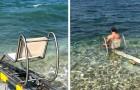 A Bari la prima passerella che permette ai disabili di fare il bagno in mare in totale autonomia