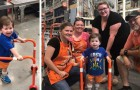 They go to a DIY store to build a walker for their son and the sales clerks tell them