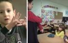 Uno degli alunni è sordo: tutta la classe impara il linguaggio dei segni per non farlo sentire escluso