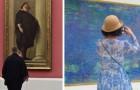 Si apposta nei musei e fotografa le persone che si abbinano alle opere d'arte: risultato pazzesco!