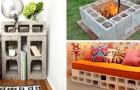 Se non sapete cosa fare dei blocchi di cemento, ecco delle idee fantasiose per usarli in giardino